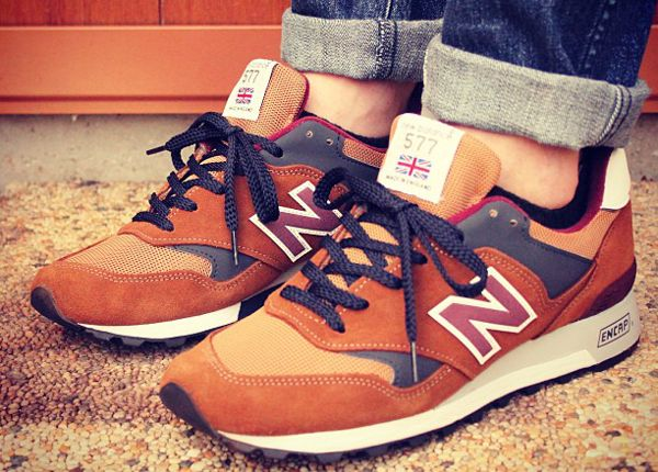 new balance 577 marron homme