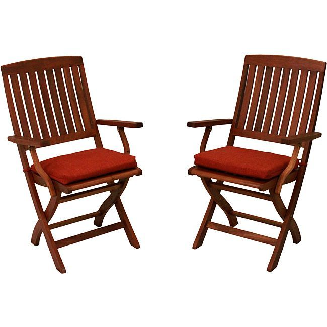 blazing needles allweather acrylic outdoor folding chair pads pack of 2 cocoa reosol10 brown outdoor cushion - Folding Outdoor Chairs