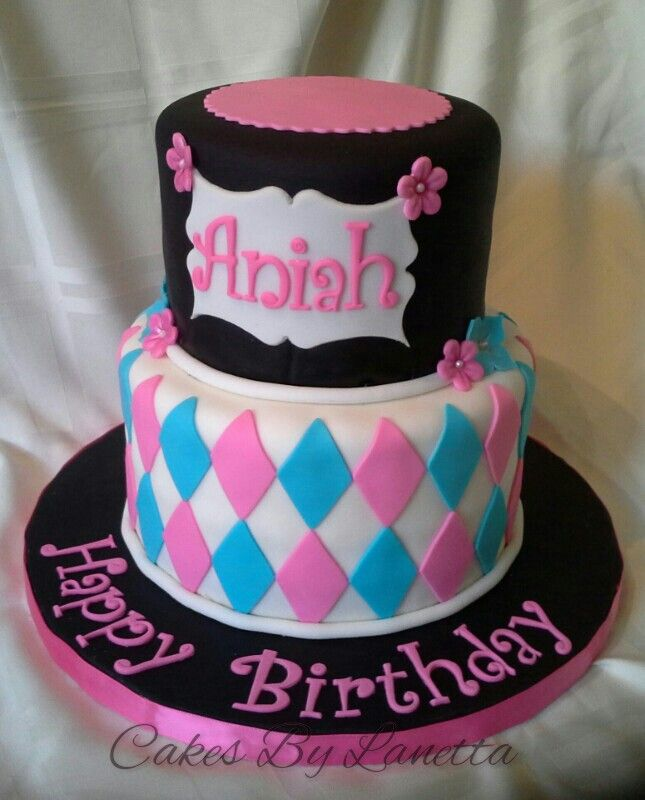 Best Cakes By Lanetta Images On Pinterest Birthday Cakes - Stylish birthday cakes