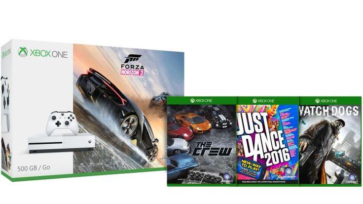 Buy Xbox One S Forza Horizon 3 500GB Console  3 Games  $229