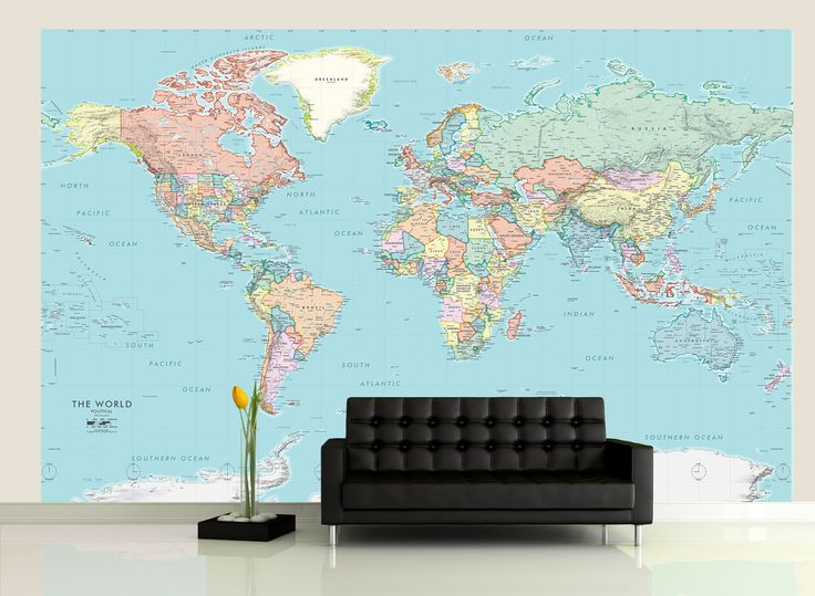 Best 25 world political map ideas on pinterest the hist for Classic world map wall mural