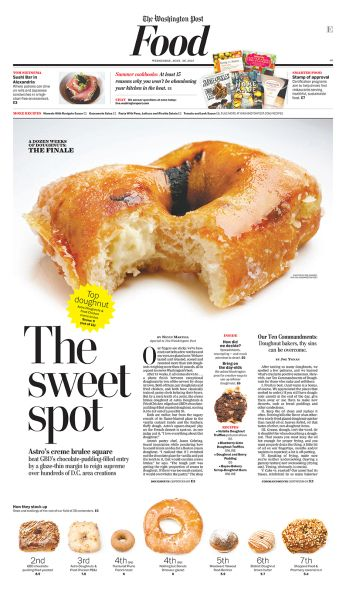 Very nice layout for this food page. Really like the left placed big headline. http://newspagedesigner.org/photo/the-sweet-spot?context=user #graphicdesign #newspaper #layout