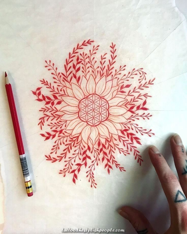Legendary Kaia Holbrook On Instagram The Character Of The Mandala For Sooner Or Later In 2020 Nature Mandala Elbow Tattoos Body Art Tattoos