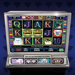 I just played IGT Slots Kitty Glitter http://www.wildtangent.com/Games/igt-slots-kitty-glitter