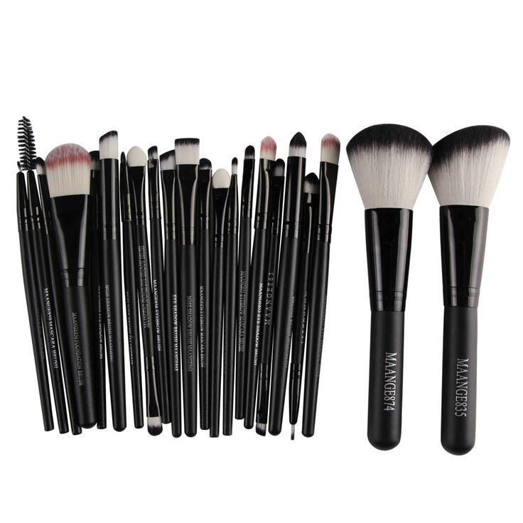 $5.99 (Buy here: https://alitems.com/g/1e8d114494ebda23ff8b16525dc3e8/?i=5&ulp=https%3A%2F%2Fwww.aliexpress.com%2Fitem%2F20pcs-Professional-Makeup-Brush-Set-Tools-2Pcs-Big-Powder-Blush-Foundation-Black-Make-Up-Brush-Set%2F32742199880.html ) 20pcs Black Makeup Brushes Professional + 2Pcs Big Powder Blush Foundation Make Up Brush Set pincel maleta de maquiagem for just $5.99
