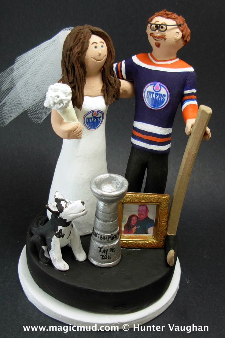 Unique Wedding Gifts Edmonton : Wedding Cake Topper Edmonton Oilers / Hockey Pinterest Gifts ...