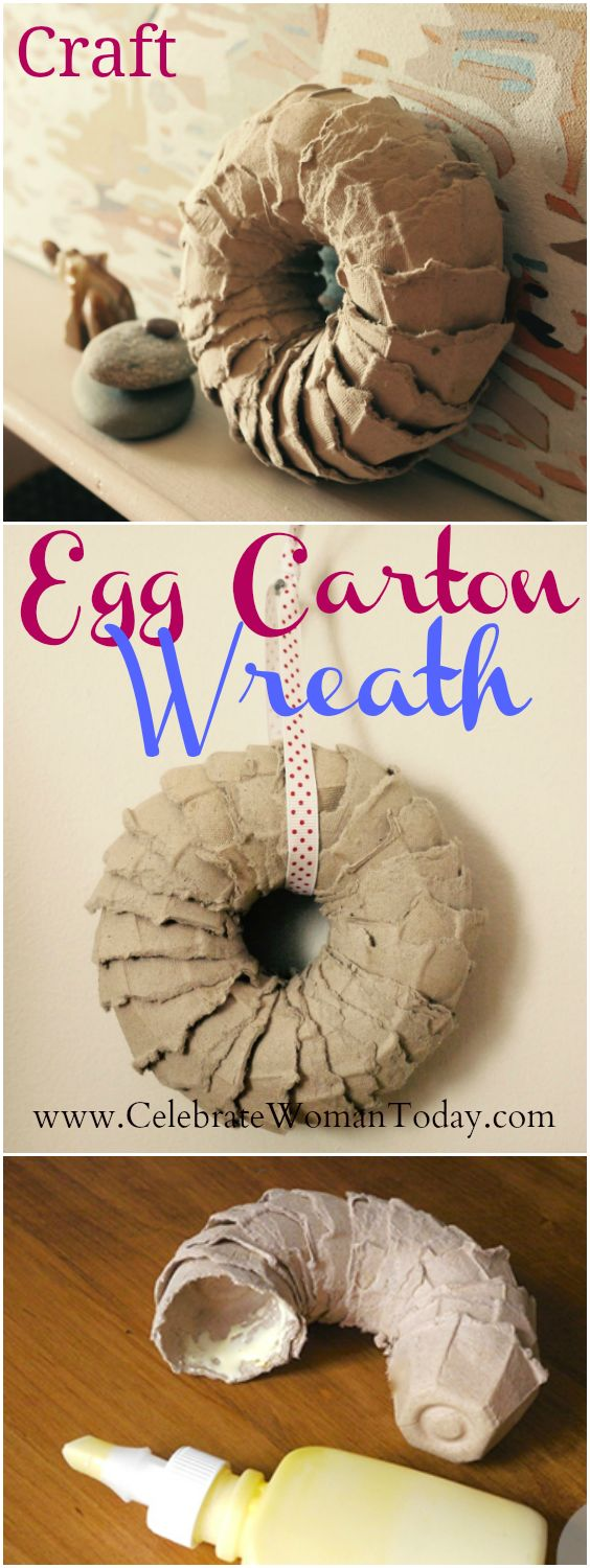 Egg Carton Wreath Craft Tutorial Made out of affordable material! #Heartthis #Craft