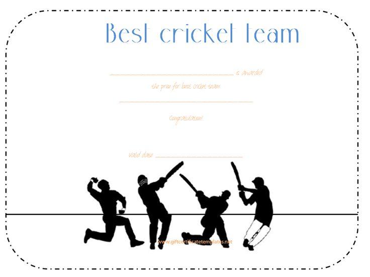 best-cricket-team-award-certificate-template | Award ...