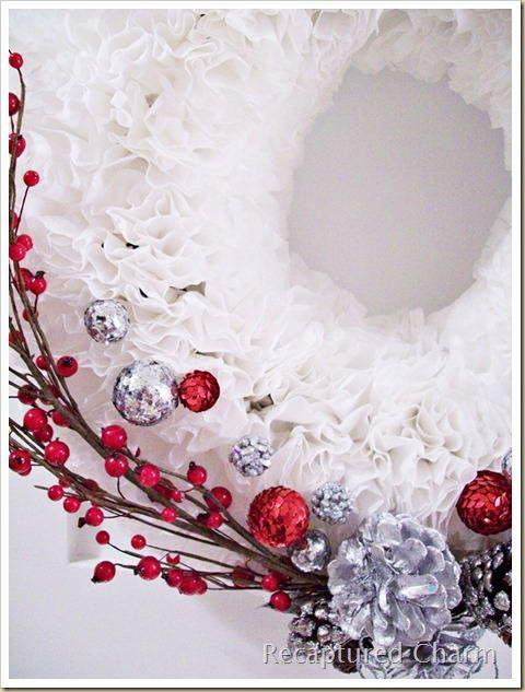 Скрапбукинг - МК.Рождественский венок из кофейных фильтров!