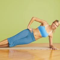 Use our side plank exercise to get ride of those unwanted love handles.