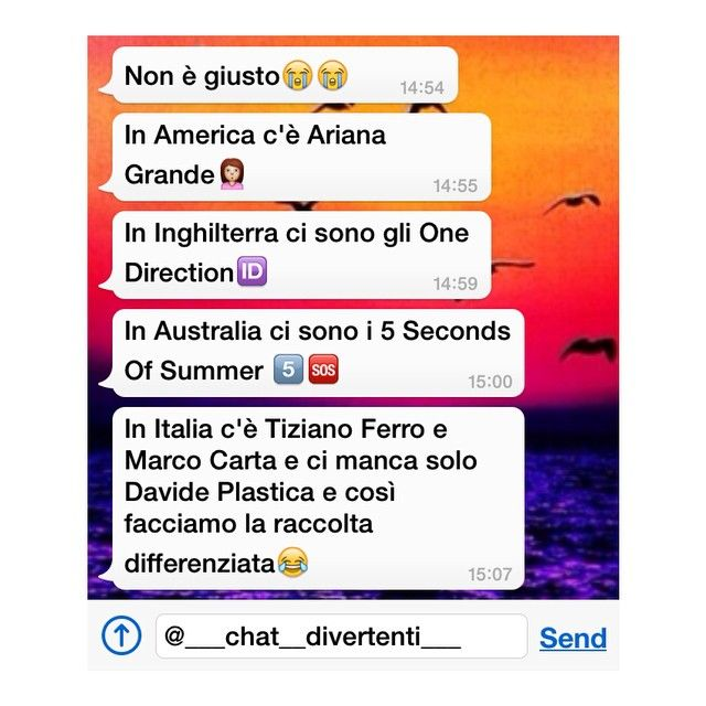 "2,812 Likes, 156 Comments - @___chat__divertenti___ on Instagram: ""Ciao • Cantante/gruppo preferito? • {prossimo post 200 like} • Sofi