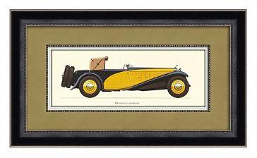 """Постер """"Деланж 1933"""" Материал Холст - плита МДФ, специализированная бумага, ручная роспись, рама - деревянный массив, покрытие - лак, краска, остекление - стекло"""