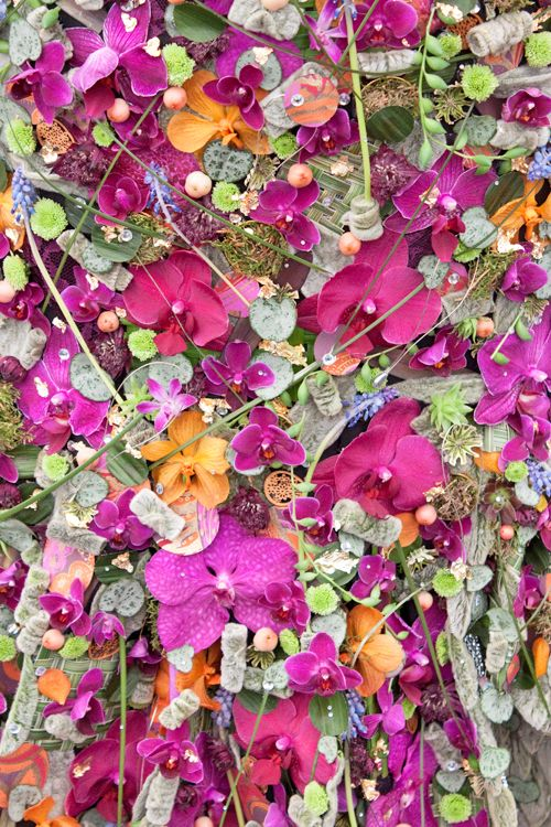 Images of all the floral dresses in the RHS Young Florist of the Year 2014 competition at the RHS Chelsea Flower Show