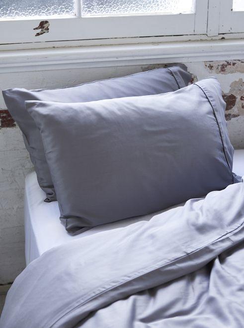 Ettitude Organic Bamboo Charcoal Lyocell Duvet Cover Set   Dove Grey