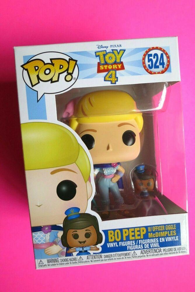 Disney Toy Story 4 Bo Peep With Officer Giggle Rare Funko Pop Vinyl Figure #524