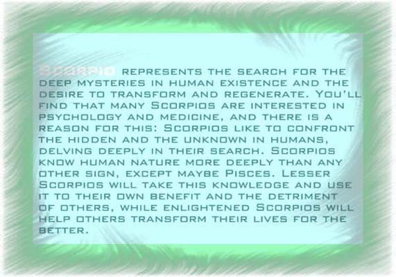 Personality Scorpio Characteristics