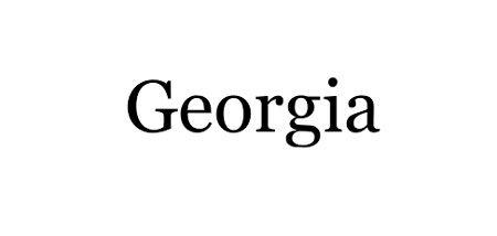 FONT // GEORGIA