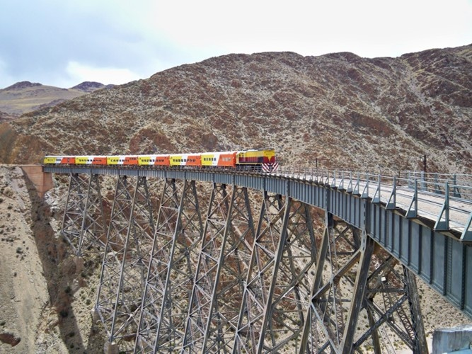 Tren a las Nubes - The most amazing train in the world. Reaches a height of 4200 meters on its 217 km trip It is one of the highest railways in the world