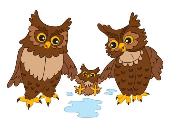 More Owl Clipart can be found here: http://etsy.me/2o5eXFc  ITEM: Clipart - Digital Vector Ows, Baby Owl, Woodland, Owl, Cute, Cartoon, Owl, Vector, Bird, Owls Clip Art for... #thecreativemill