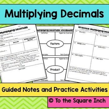Common core worksheets multiplying decimals