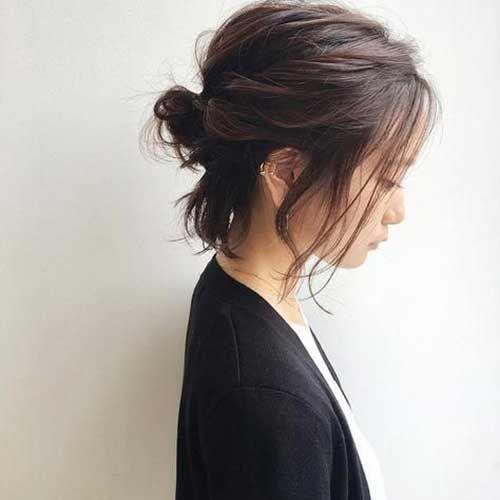 Einfache süße Hochsteckfrisur für kurzes Haar  #einfache #hochsteckfrisur #kurzes #diyfrisuren