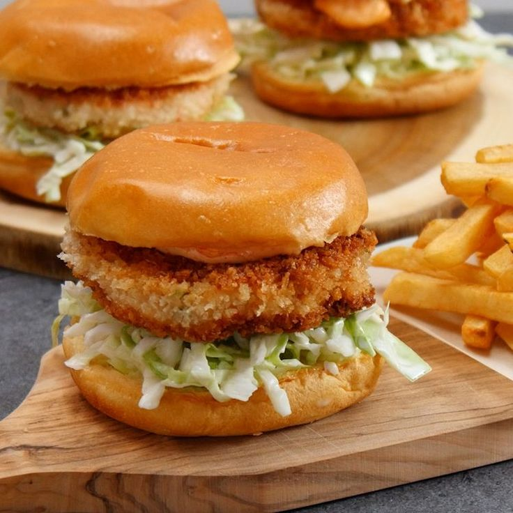 If you like popcorn shrimp, you'll love this recipe for Crispy Shrimp Burgers. Seriously, this dish is like fried shrimp on steroids...it's so good!It's so simple frying this on your stove, and the simple slaw and chili mayo add a nice tang that just