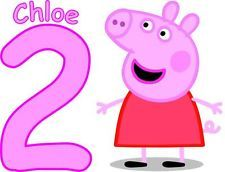 PERSONALISED PEPPA  PIG BIRTHDAY T SHIRT TRANSFER LIGHT FABRICS ANY AGE/NAME