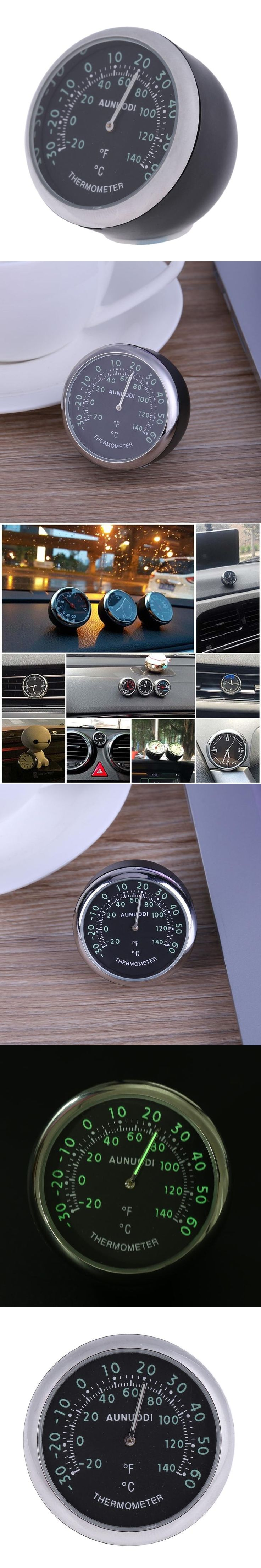 Car Interior Decoration Quartz Clock Shape Mechanical Thermometer Hygrometer Car Styling Interior Accessories