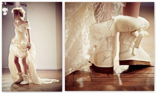 Winter Wedding Ugg Boots
