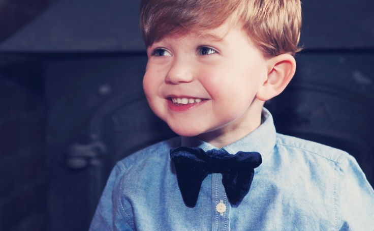 The Brit-Kid 'Harry' bow tie.100% silk velvet.  Available from 30/11/12 on www.brit-kid.co.uk #BowTie #Boys