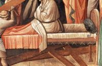 Research: 14th Century Italian Beds and Bedding | My Medieval Life A bit later than 12th century, but the diagonal roping was used in the bed in the Andrews Triptych.