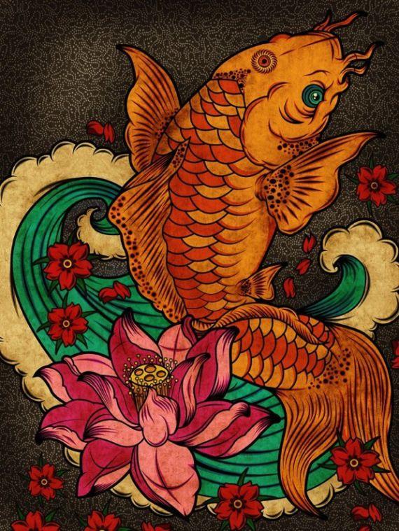 las 25 mejores ideas sobre tatuaje de pez dorado en