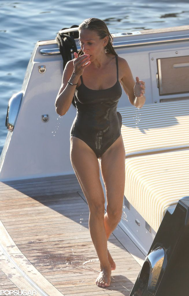 Sarah Jessica Parker's Impressive Beach Body Makes a Splash in Spain. #celebrity #bikini