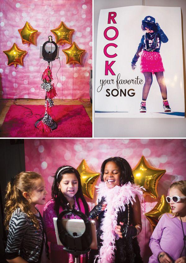Sparkle & Glam Pop Star Birthday Party {Pink & Black}