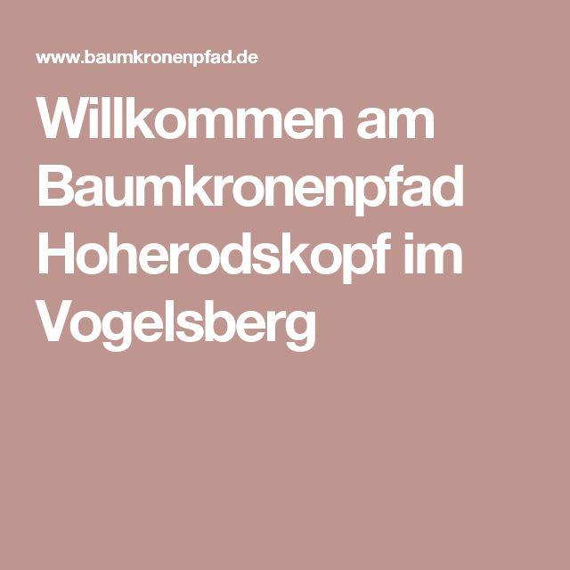 Willkommen am Baumkronenpfad Hoherodskopf im Vogelsberg