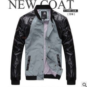 >> Click to Buy << 2016 new Han edition urban fashion metrosexual man stand collar Spell leather Thin section men's casual jacket Cheap wholesale #Affiliate