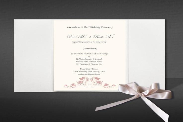 Annie pink invitation