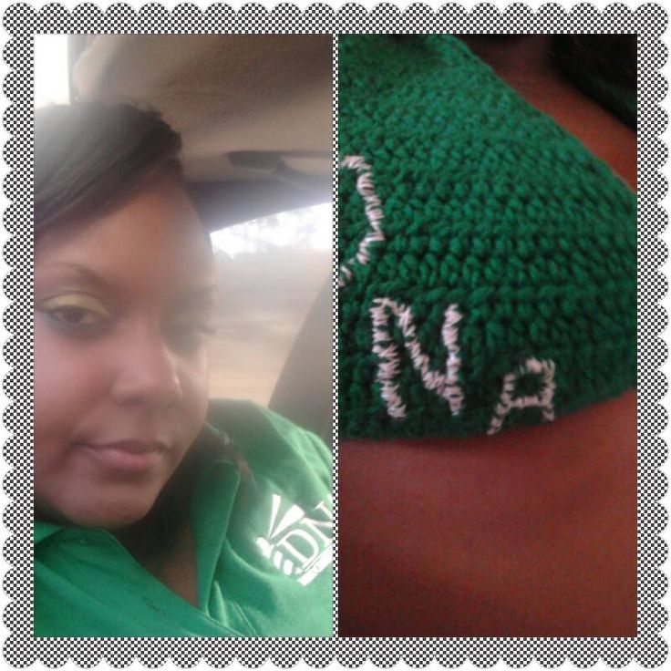One of My Crochet Tops handmade of course by yours truly! The DNA stands for Democratic National Alliance (a political party here in the Bahamas that I sincerely support!) #CrochetJunkie