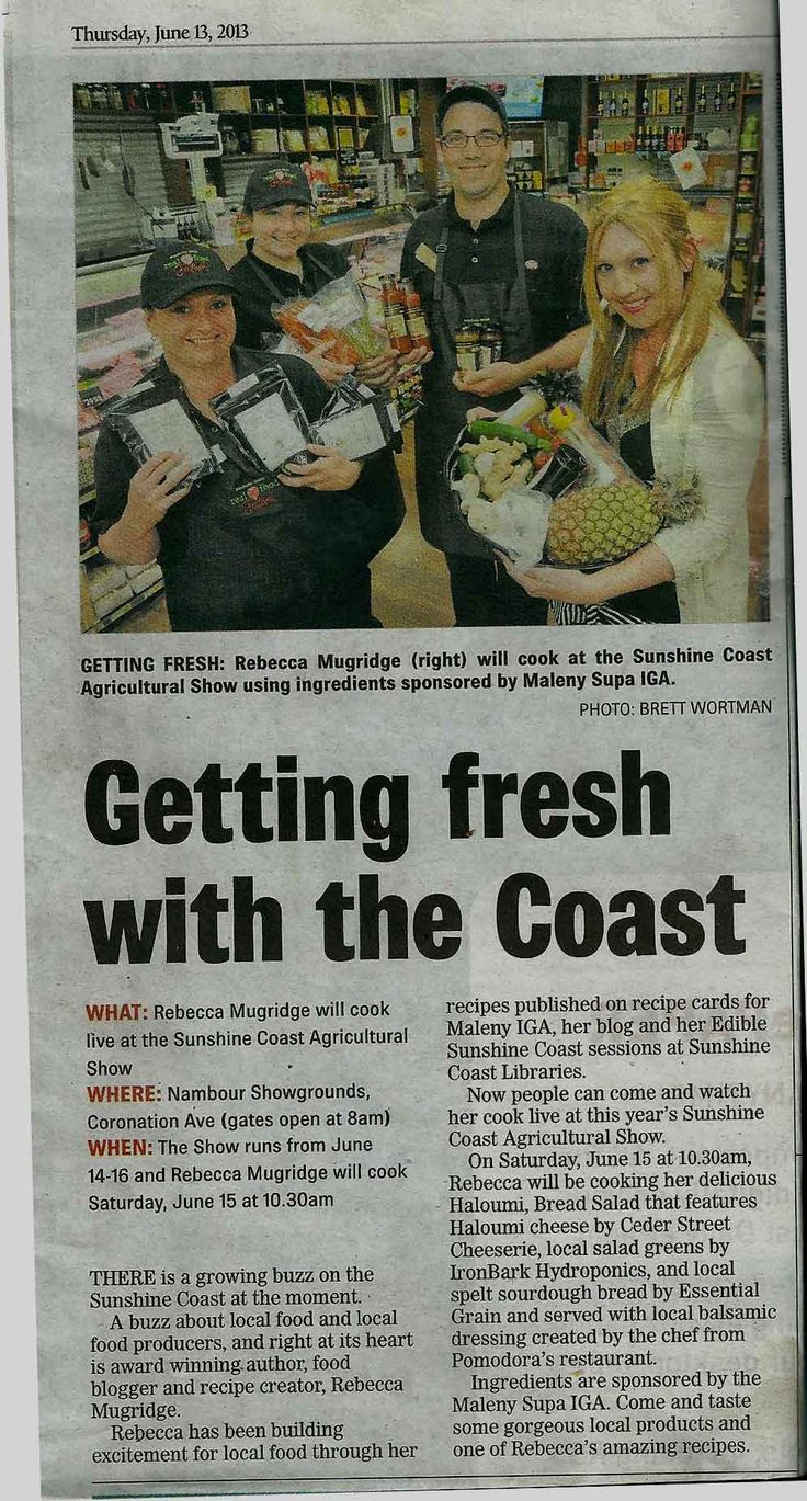 Cooking with Bek at the Sunshine Coast Show #eatlocal