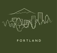 outline of portland skyline - Google Search