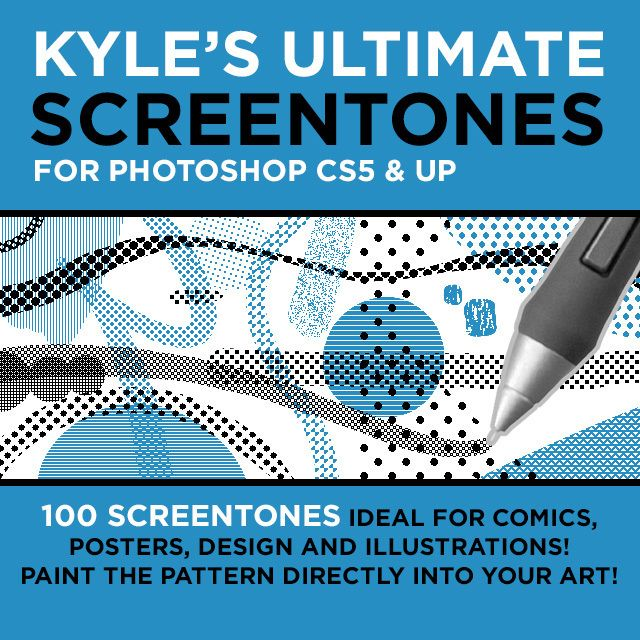 how to make screentones in photoshop
