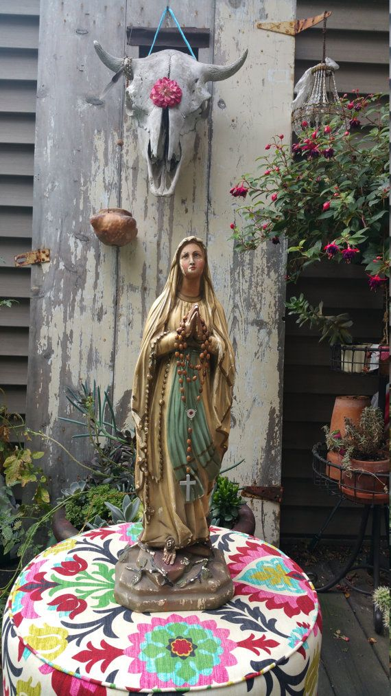 Sold Virgin Mary statue our lady of Lourdes Madonna by studiopink $250