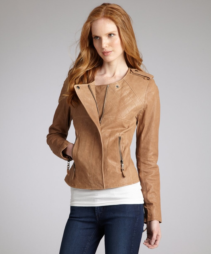 Best 25  Tan leather jackets ideas on Pinterest   Womens brown ...