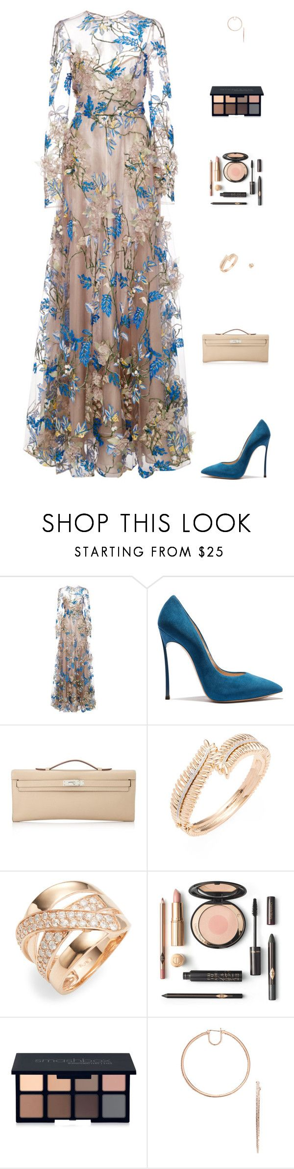 """Untitled #5022"" by mdmsb ❤ liked on Polyvore featuring Hermès, Effy Jewelry and Smashbox"