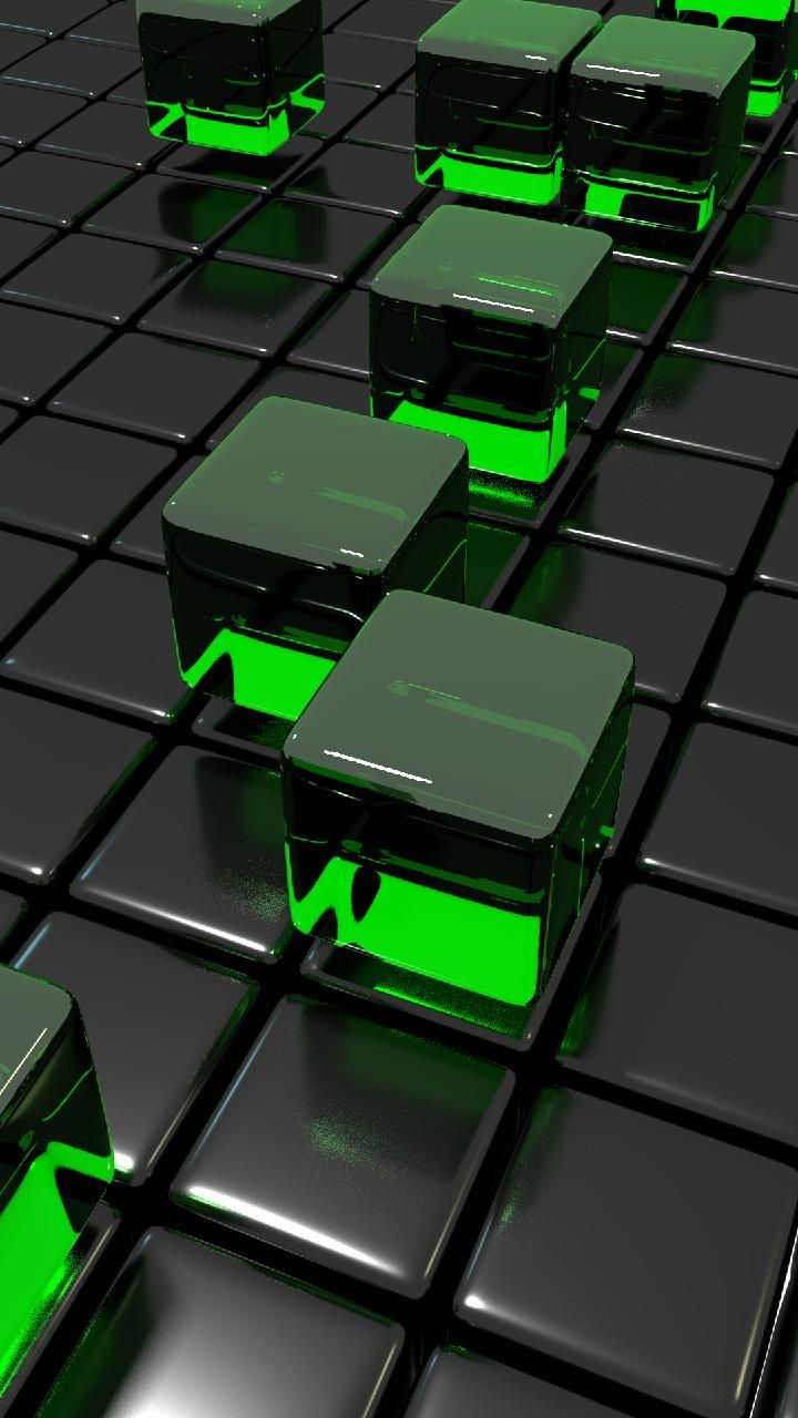 Download Cube Grid Green Wallpaper By Tetritek 31 Free On Zedge Now Browse Millions O Android Wallpaper Black Phone Wallpaper Design Technology Wallpaper
