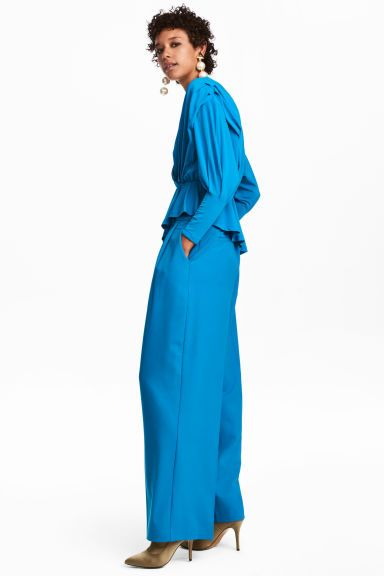 Широкие брюки - Ярко-голубой - Женщины | H&M RU 1