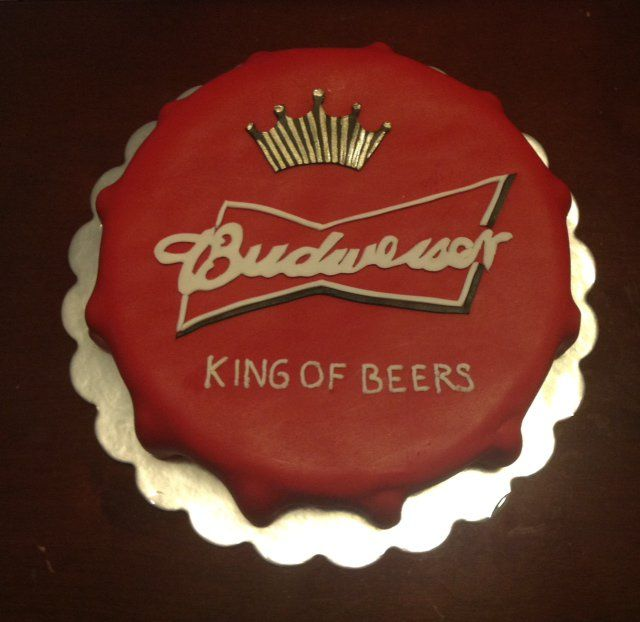 budweiser cake - Google Search (Decorated Bottle Beer Caps)
