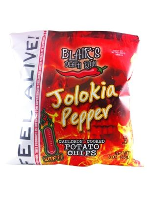 Blair's Death Rain Jolokia Pepper Cauldron Cooked Potato Chips