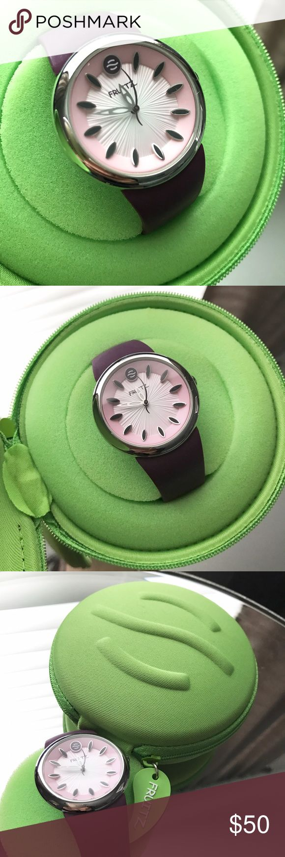 PHILLIP STEIN FRUITZ women's purple watch Women's purple watch - used. In excellent condition. Case included. Needs new batteries. Perfect pop of color to any outfit :) Phillip Stein Accessories Watches