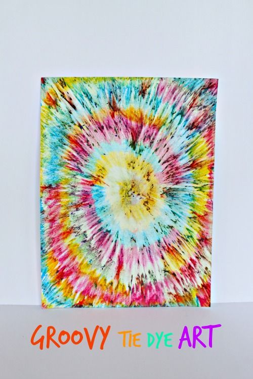 gorgeously groovy tie dye art for kids